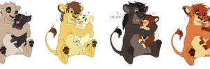 Lion Sibling Adoptables CLOSED by sjsaberfan