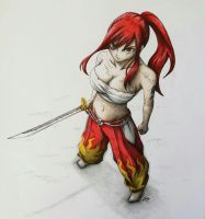 Erza Scarlet by PerhapsAnArtist