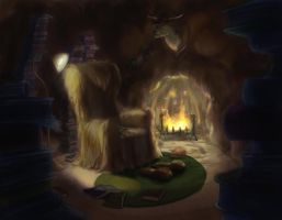 Bookish Bear Cave by angelwingkitty