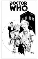 Doctor Who Classics 4 cover BW by RobertHack