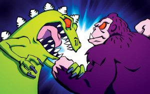 Reptar versus Thorg by BiggCaZ