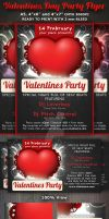 Valentines Day Party Flyer Template by Hotpindesigns