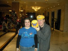 Wario block for Jew Wario at Magfest 2014 by HeatherMason76