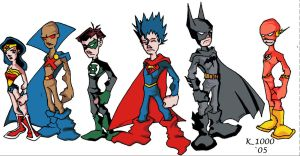 Justice League of America by K-1000