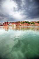 Wet Whitby Dusk by taffmeister
