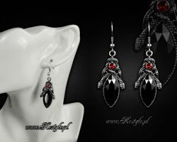 Snakes Of Avalon Earrings by Euflonica