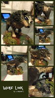 Wolf Link Sculpture by kittyalyst