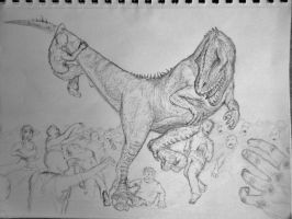 Allosaurus versus Zombies by Lexinator117