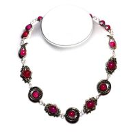 Cyberpunk Pink Necklace by CatherinetteRings
