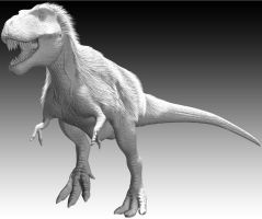 Early Attempts: T.rex 3D model (Old version) by Sketchy-raptor