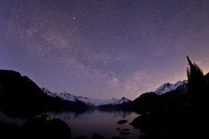 Stars at Garibaldi Lake by punkaddic