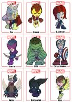 Avengers Chibi sheet 1 by Juggertha