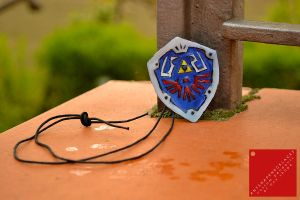 Legend of Zelda Hylian Shield Necklace by AnyShapeNecklaces