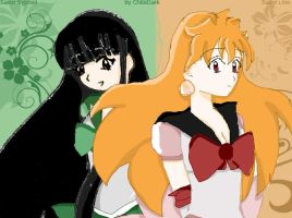 Sailor Lina and Syphiel by xChibiDark