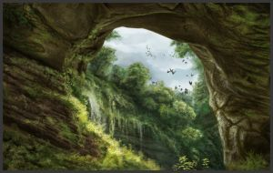 Jungle cavern by lukkar