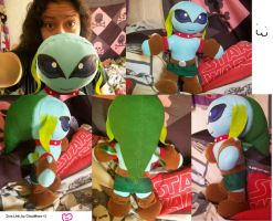 Zora Link plushy by Claudiface
