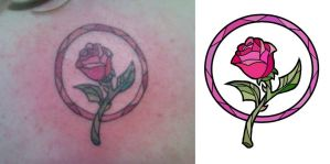Rose Tattoo by barefeets
