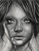 Girl drawing by keillly