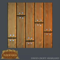 Handpainted Tileable texture (Decking) by DavidCroftSharland