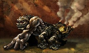 Steam Punk Strogg Monsta by GrizzlySword