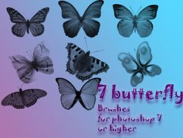 7 butterfly brushes by Saysamia-stock