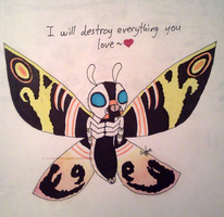 Mothra - Destroy everything you love by InvaderBlitzwing