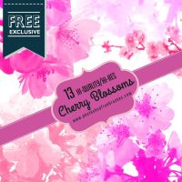 13 High-Res Cherry Blossoms Photoshop Brushes by fiftyfivepixels