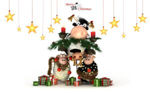 Sheeps Xmas Tree WIDE by bsign