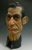 Johnny Cash Caricature Jug-Complete by thebigduluth