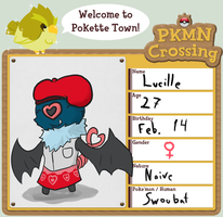 PKMNC NPC- Lucille the Swoobat by Obnoxious-Canary