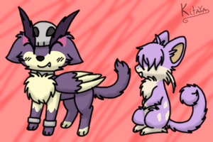 Kitty-Puppy-Bird and Fluff Mouse by Night-Chimeras-Cry