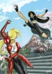 Tifa and Helena by lAffinityl