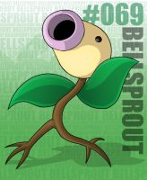 Pokemon: 069 Bellsprout by Xxid