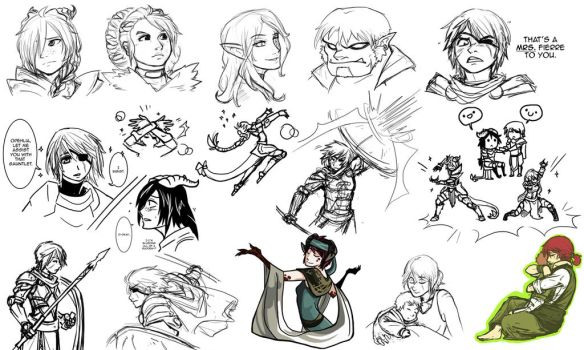 DnD: Doodles by asyrill