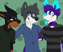 Dobie And Friends by Affy-Wolf