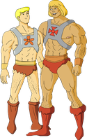 Fred and He-Man - They-Men by Kim-Possible333