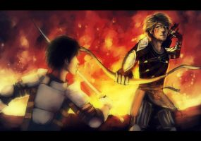 Hawke vs. Carver by camibee