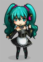 wip Miku Maid by vensii