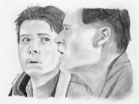Sketch: Marty and George McFly by IslandWriter