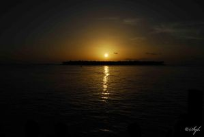 Sunset over Key West by WALKING-GIRL