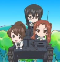 Panzer division Chibi E team by Bezsoba