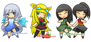 Commissions :: 4 Slot Chibi by Goddess-Tears