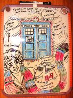 Doctor Who - whiteboard art by Rhea-Batz