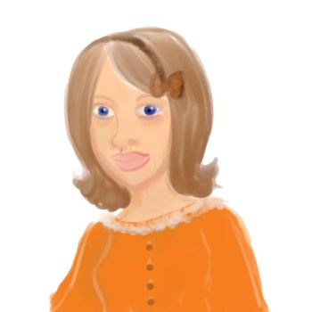 orange sweater by Arwen-udomiel
