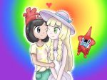 Pokemon Sun And Moon Female Protagonist X Lillie by AndkeAnka