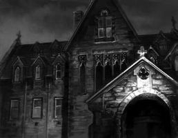 Shadows over Scotland Abbey by thegryph
