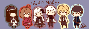 Alicemare Chibis by FairyBlueSoul