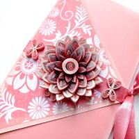 quilling envelope Pink by othewhitewizard