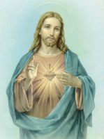 The Sacred Heart of Jesus by CrispinVCampion