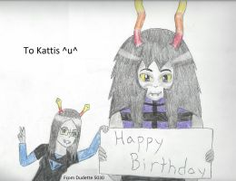 Happy Wriggling Day to Kattis! by Dudette5030